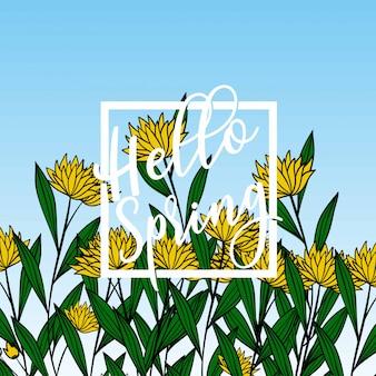 Ciao banner di primavera.