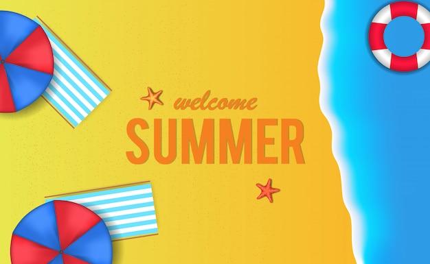Ciao estate bellissima spiaggia
