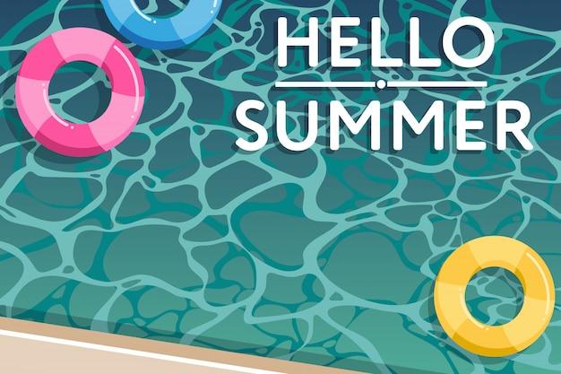 Ciao estate, illustrazione della piscina