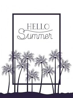 Ciao estate illustrazione
