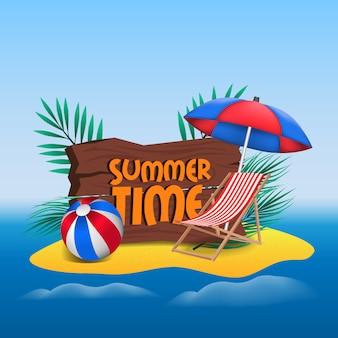 Ciao estate isola di sabbia