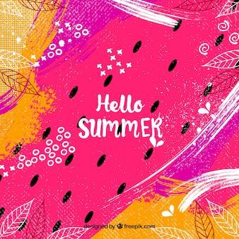 Ciao estate sfondo in stile astratto