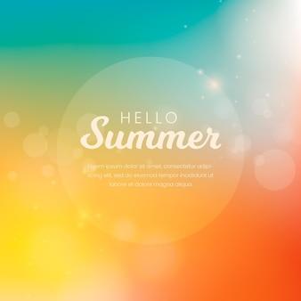 Ciao estate sfondo sfocato