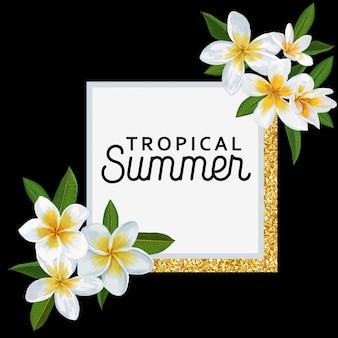 Ciao estate sfondo tropicale