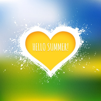Ciao estate vettoriale astratto