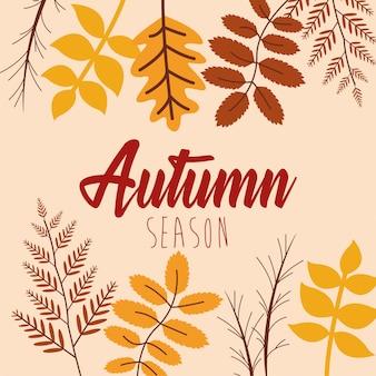 Ciao foglie autunnali e calligrafia