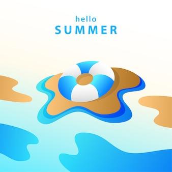 Ciao illustrazione di sfondo estivo
