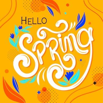 Ciao lettere di primavera