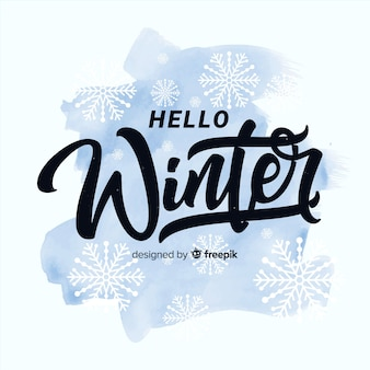 Ciao lettering invernale