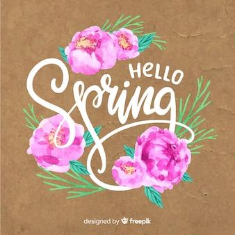 Ciao lettering primavera