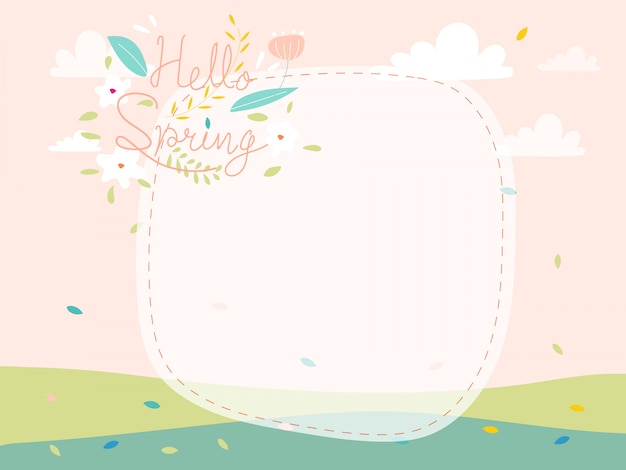 Ciao logotipo disegnato a mano di primavera per modello di invito