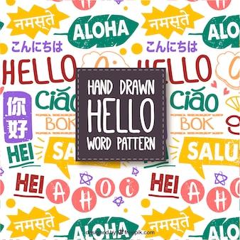 Ciao modello di parole in diverse lingue