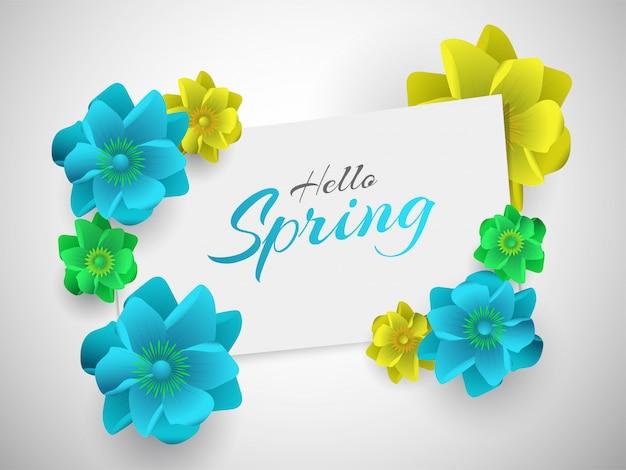 Ciao poster spring o banner design
