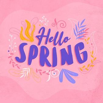 Ciao primavera colorato disegno di lettere