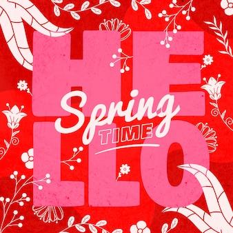 Ciao primavera con un design colorato