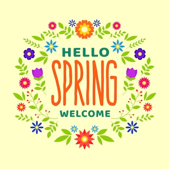 Ciao primavera design colorato