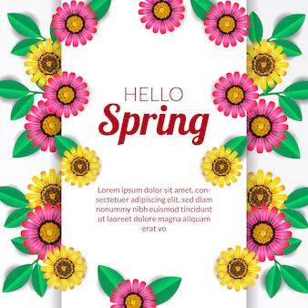 Ciao primavera fiore in fiore