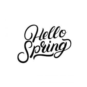 Ciao primavera scritte a mano scritte