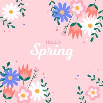 Ciao primavera sfondo colorato