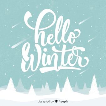 Ciao sfondo invernale