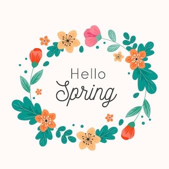 Ciao stile artistico concetto di primavera