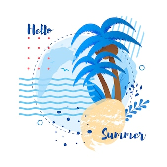 Ciao summer greeting lettering