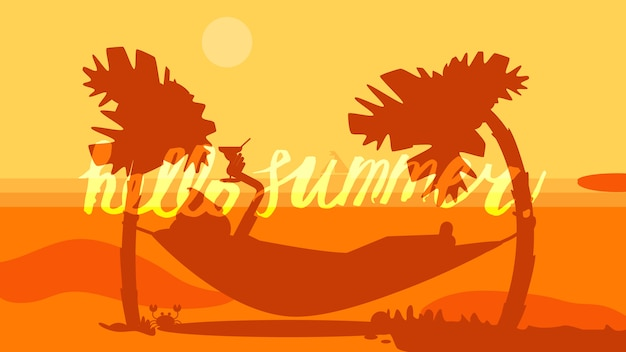 Ciao summer lettering