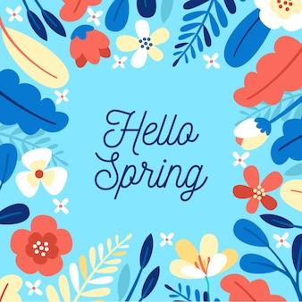 Ciao tema colorato di primavera