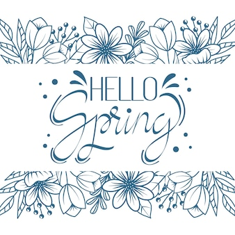 Ciao tema di lettere artistiche di primavera