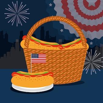 Cibo americano giorno dell'indipendenza
