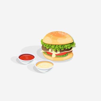 Cibo da burger realistico