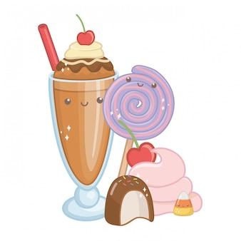 Cibo dolce e delizioso