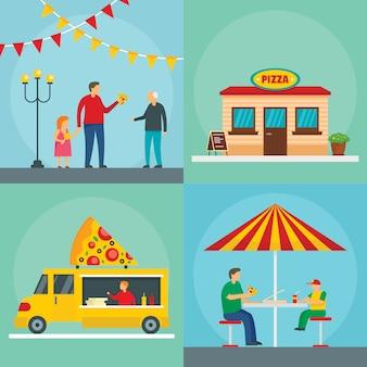 Cibo festival della pizza