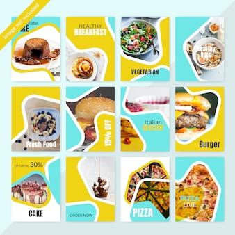 Cibo instagram social media post modello per ristorante