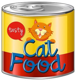 Cibo per gatti in lattina di alluminio