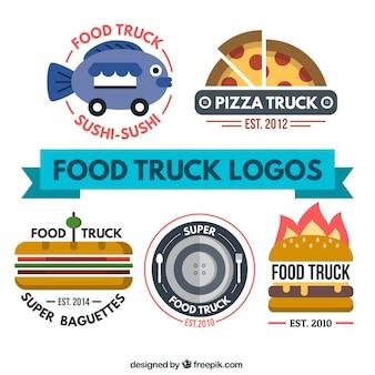 Cibo piatto camion logo collezione