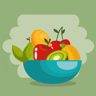 Cibo sano di frutta fresca