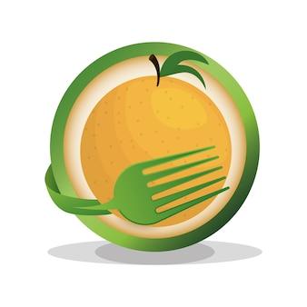 Cibo vegan arancione fresco