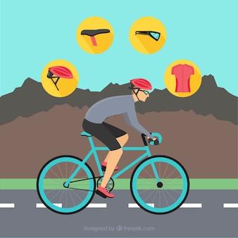 Ciclismo di montagna vettore confezione