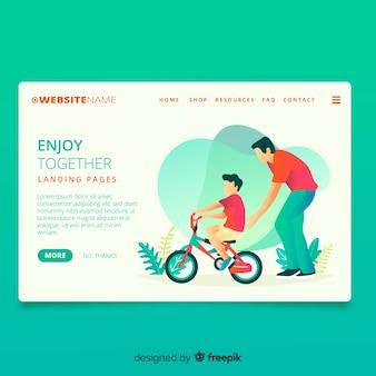 Ciclismo insieme landing page