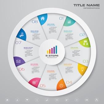 Ciclo grafico elemento infografica