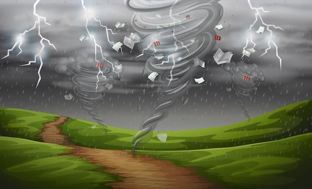 Ciclone nella natura