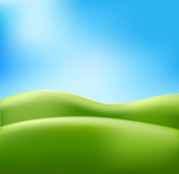 Cielo blu astratto del prato del fondo di estate
