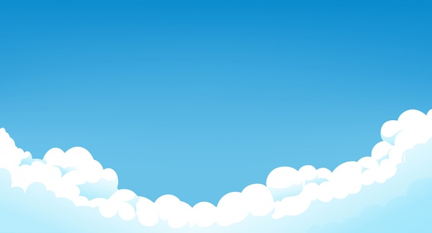 Cielo blu con nuvole bianche clear sunny day