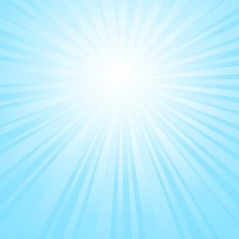 Cielo di sfondo sunburst