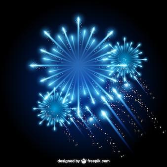 Cielo fuochi d'artificio vettore notturno