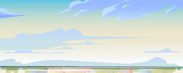 Cielo o cielo e superficie dell'acqua, paesaggio naturale