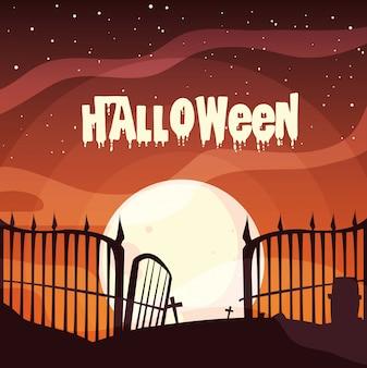Cimitero in scena halloween