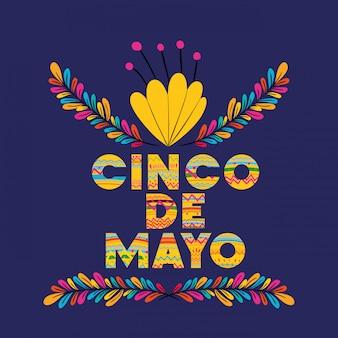 Cinco de mayo con decorazione floreale