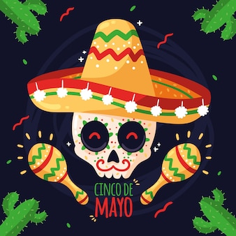 Cinco de mayo con teschio
